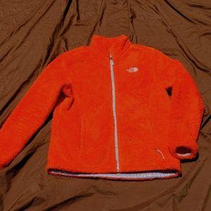 The North Face Orange Fluffy Jacket